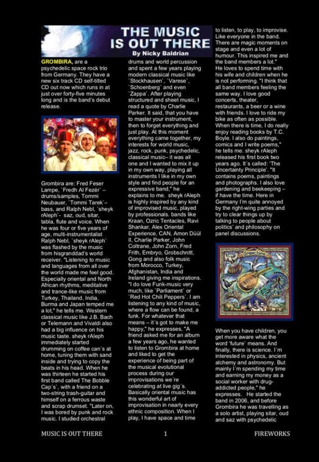 Band Review 1-arte music magazine UK